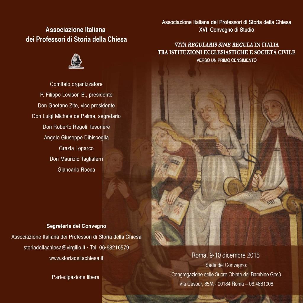 AIPSC - Convegno Vita regularis - pieghevole_Pagina_1