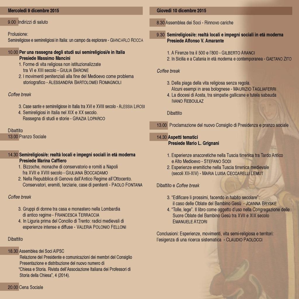 AIPSC - Convegno Vita regularis - pieghevole_Pagina_2